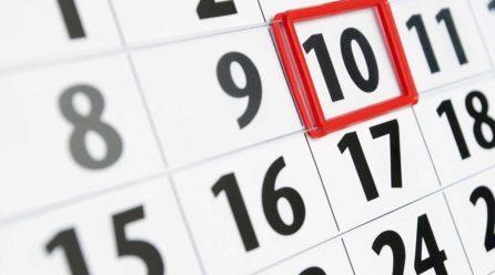 Cambio calendario de fiestas locales